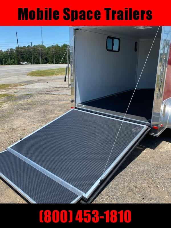 2020 Covered Wagon Trailer 7x12 red Motorcycle PKG w/ Windows Enclosed Cargo Trailer
