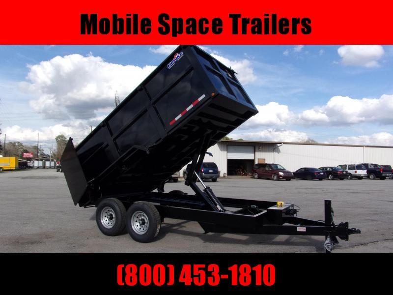 Hawke 7x14 48 high side 14k Low Pro Dump Trailer w Tarp