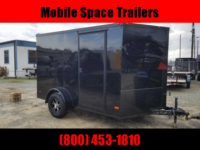 Liberty Cargo 7x10 MCP ramp door Black Enclosed Cargo Trailer
