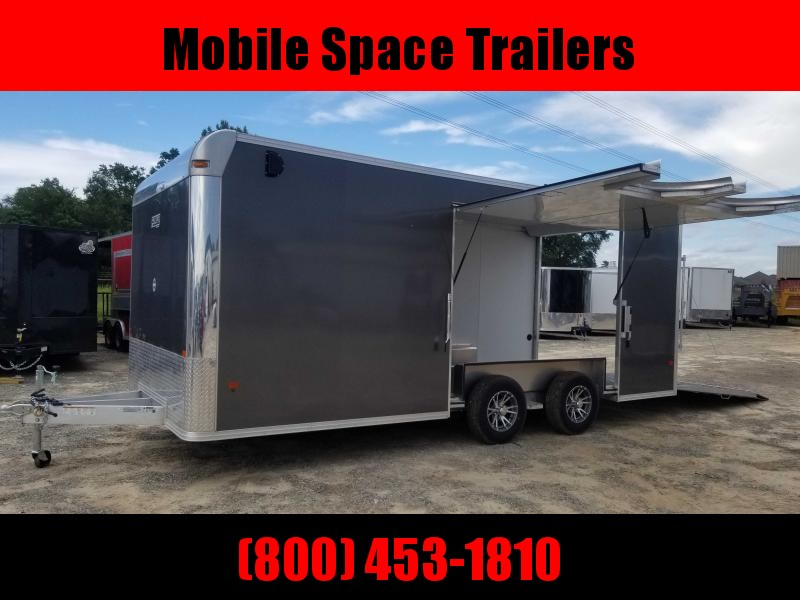 8.5X20 10K Aluminum Enclosed Charcoal Car Hauler / Racing Trailer