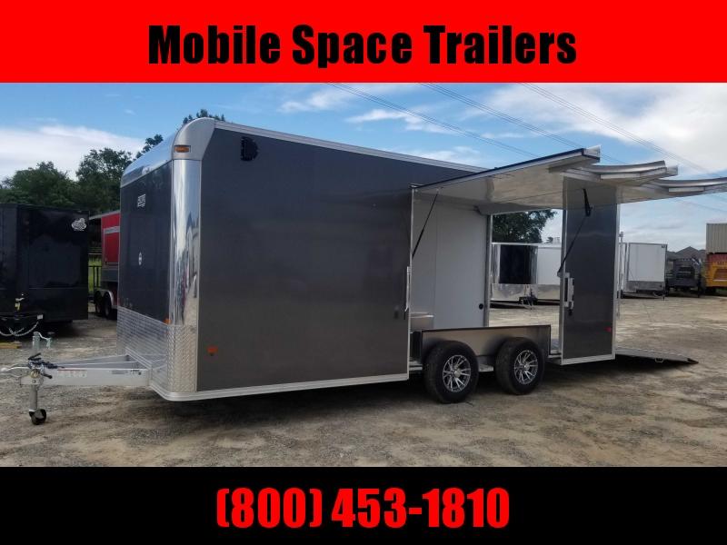 8.5X20 10K Aluminum Enclosed Charcoal Car Hauler / Racing Trailer