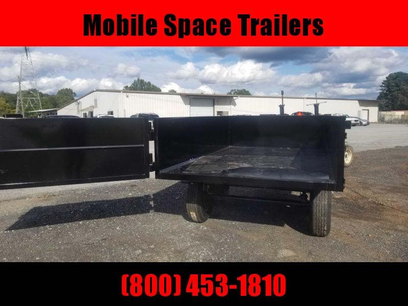 Hawke 6x10 24 high side 10k hawke Deck over Dump Trailer