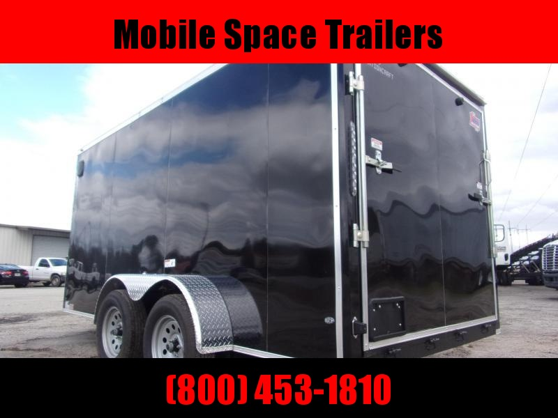 "Trailer 7x14 6'3"" black W/ Ramp Door Enclosed Cargo screwlessTrailer"