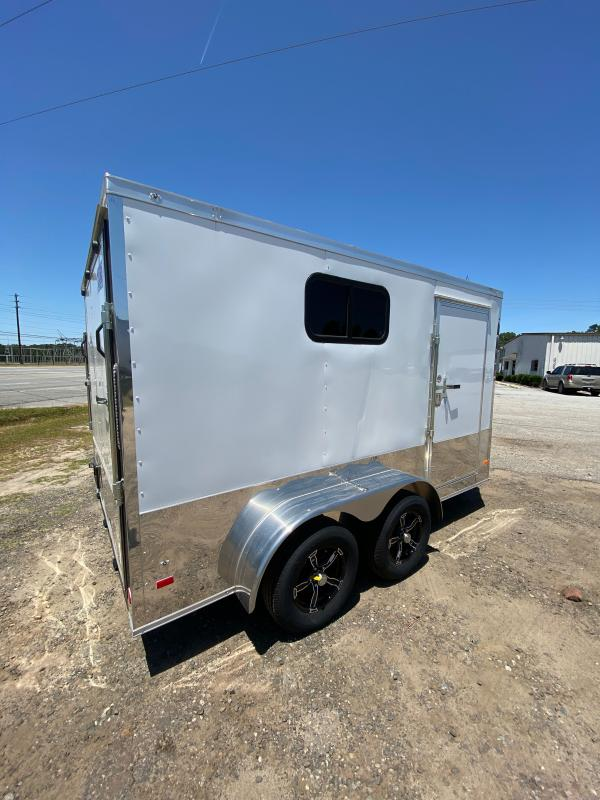2020 Covered Wagon Trailer 7x12 Wh Motorcycle PKG w/ Windows Enclosed Cargo Trailer
