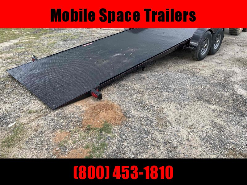 Kwik Load 22' Black Roll Back Tilt Car / Racing Trailer