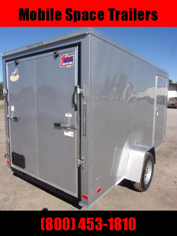 6x12 Ramp Door PEWTER Enclosed Cargo Trailer