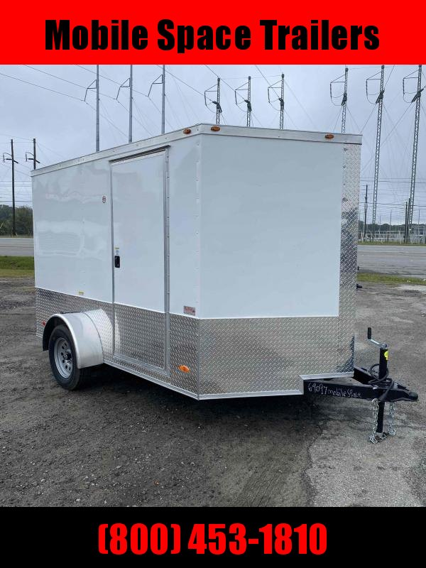 2 bike motorcycle trailer 7x10 MCP ramp door  White Enclosed Cargo