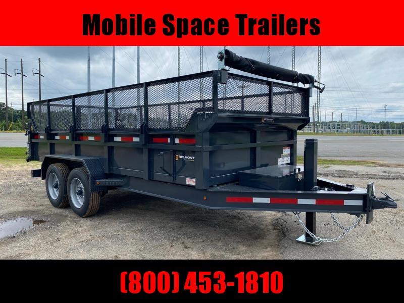 81x16 16k Hydraulic Jack dump bed equipment trailer