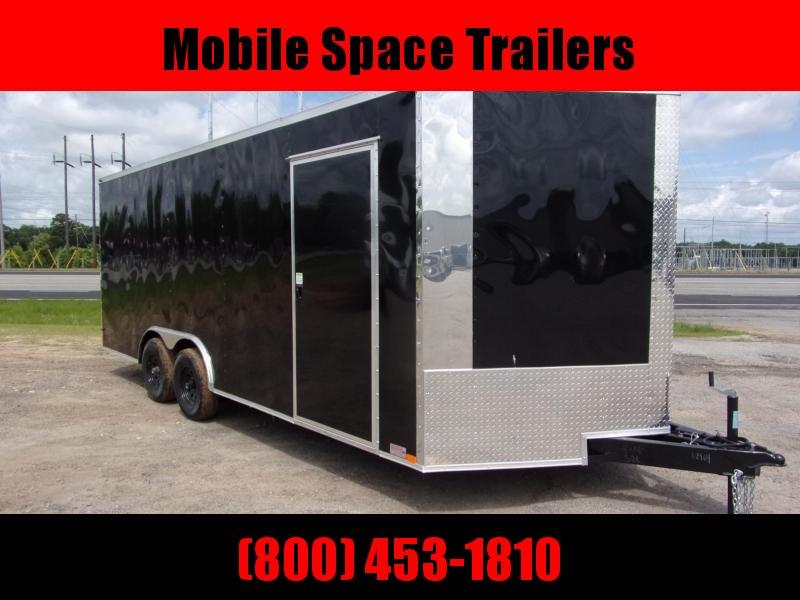 8.5X20 10K Black Semi-Screwless Carhauler Enclosed Cargo Trailer