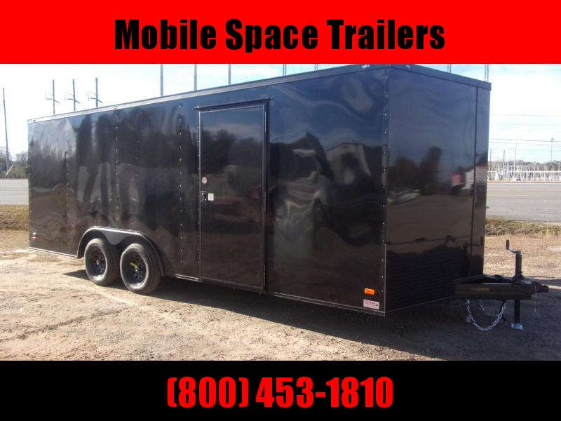 8.5X20 Black 7K Blackout Semi-Screwless Carhauler Enclosed Cargo Trailer