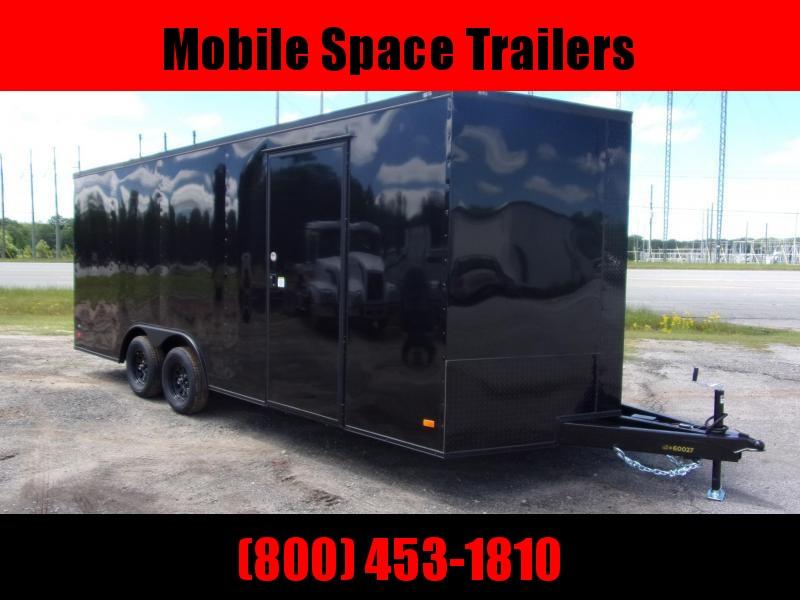 8.5X20 Black 7K Blackout Semi-Screwless Carhauler Enclosed Cargo Trailer