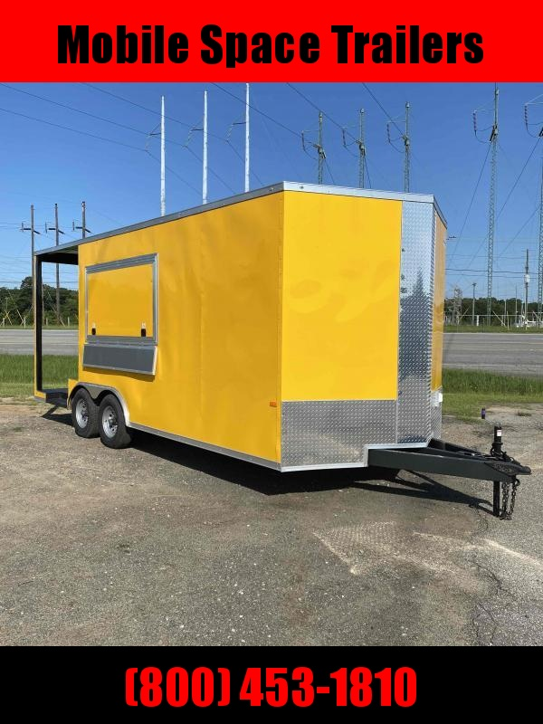 8.5x20 Concession W/ 7' Porch Vending / Food Trailer
