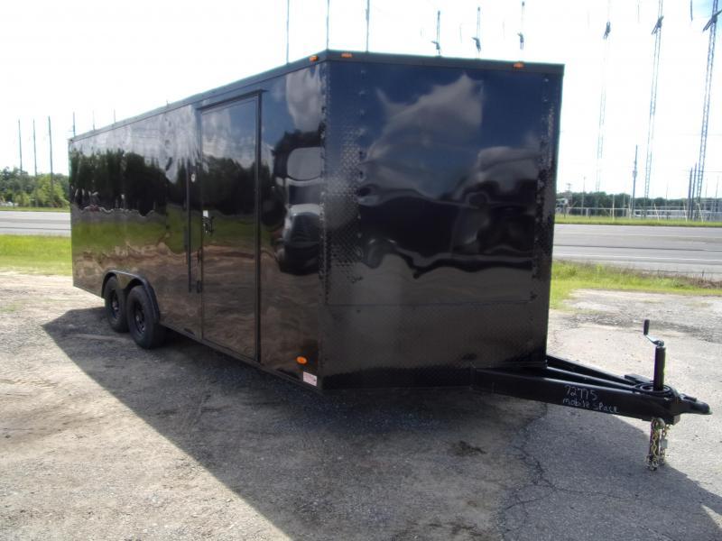 Liberty 8.5X20 Black 10K Blackout Semi-Screwless Carhauler Enclosed Cargo Trailer