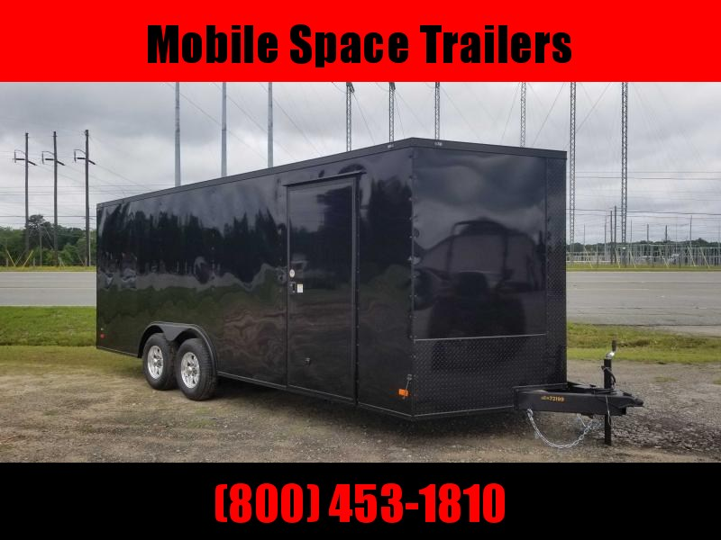 8.5X20 Black 10K Blackout Semi-Screwless Carhauler Enclosed Cargo Trailer