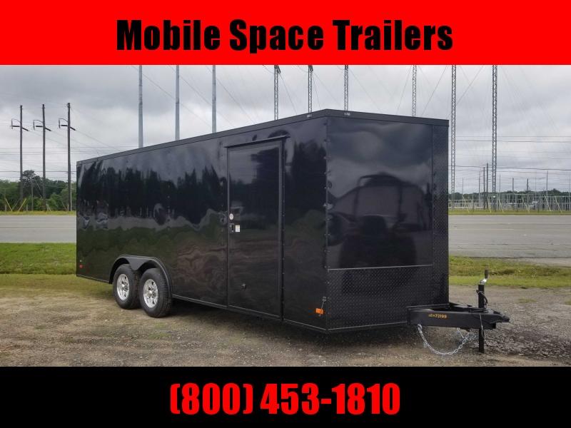 8.5X20 Black 10K Blackout Semi-Screwless Carhauler Enclosed Cargo Trailer