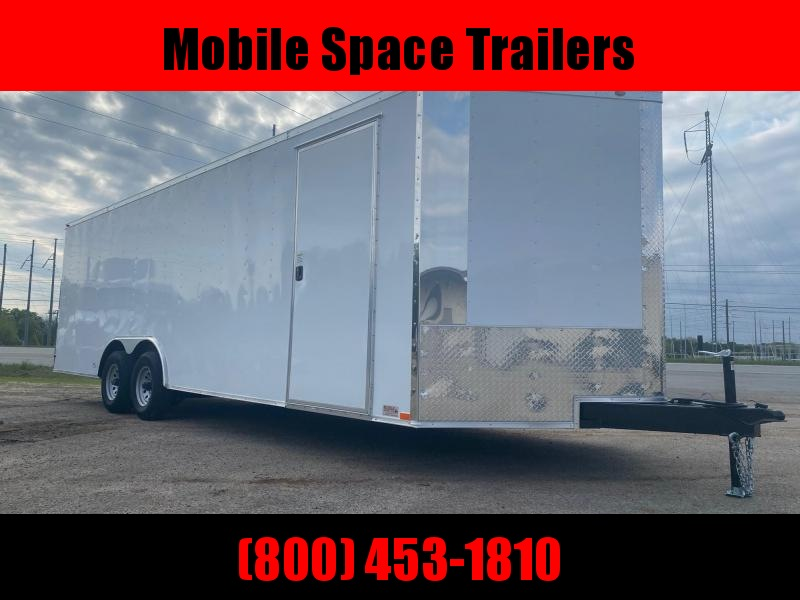 8.5X24 white 10K Semi-Screwless Carhauler Enclosed Cargo Trailer