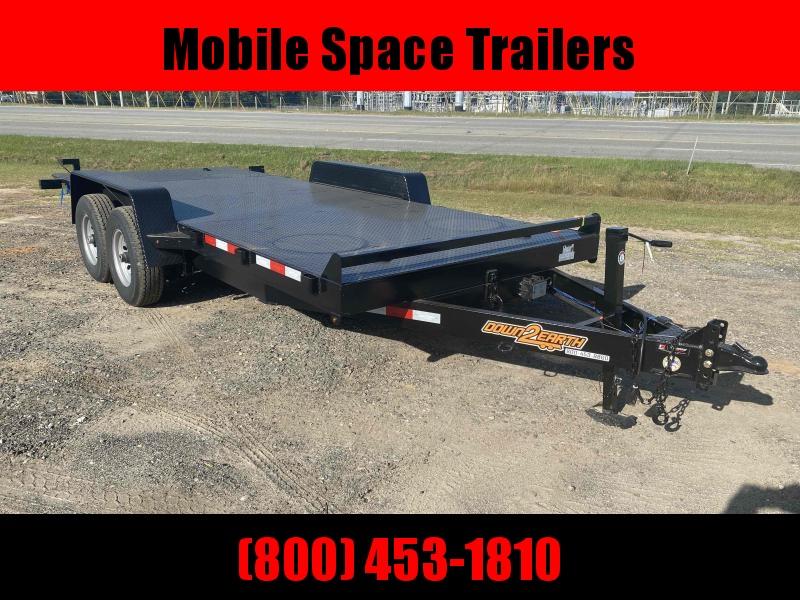 82x18 10k Gravity Tilt Steel Deck Equipment Trailer