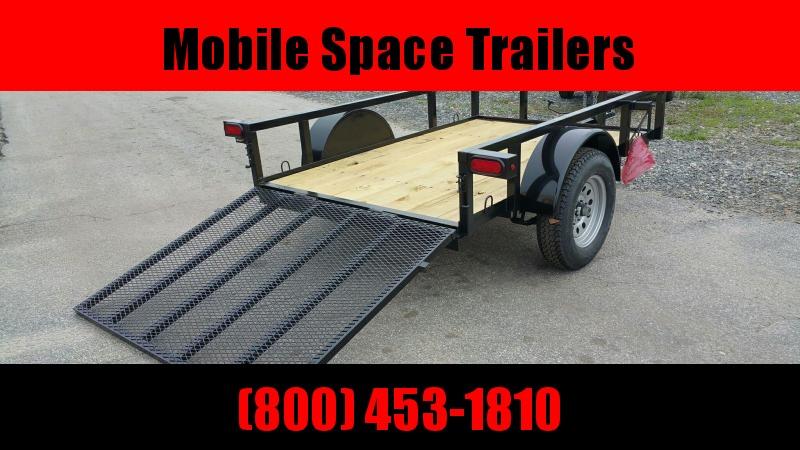 Down 2 Earth Trailers 5x8ut Utility Trailer Tube Rails