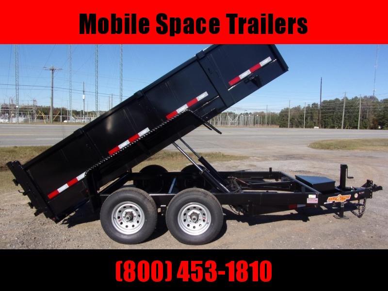 """6x12 24"""" high side 10k Low Pro Dump Trailer"""