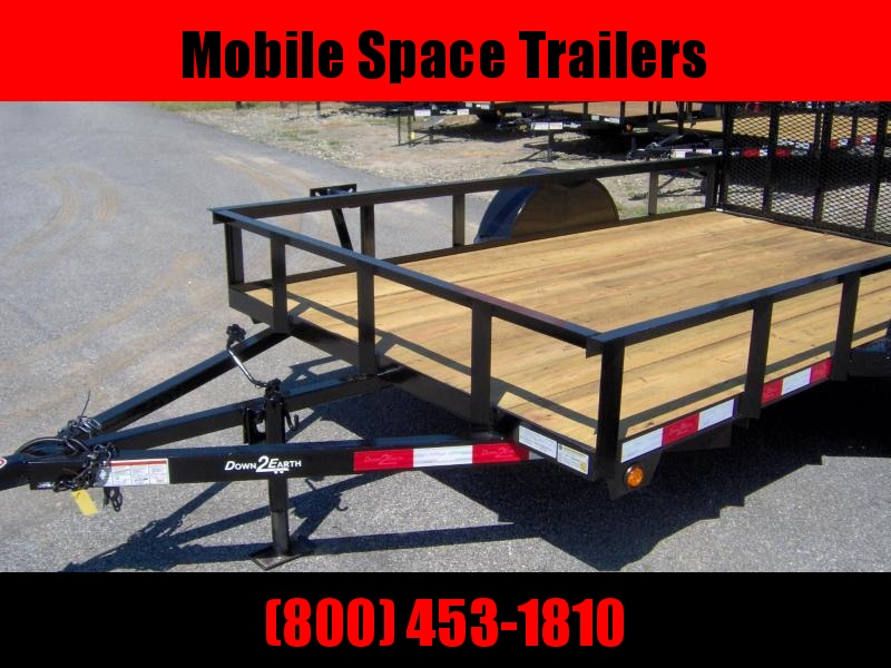 Down 2 Earth Trailers 76x10ut Dove Tail Utility Trailer