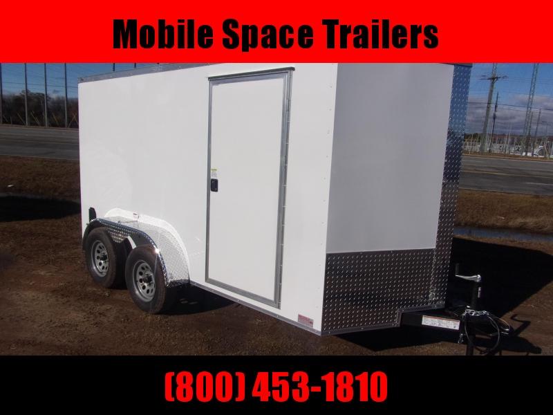 6x12 tandam axles White Enclosed cargo tailer 7k gvwr