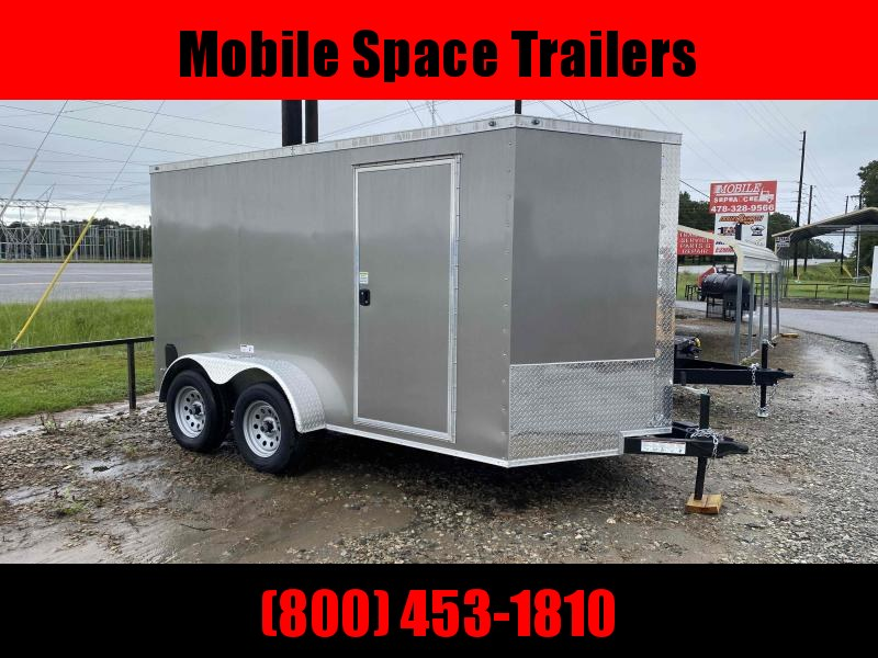 Covered Wagon 7x12 Charcoal Enclosed cargo tailer