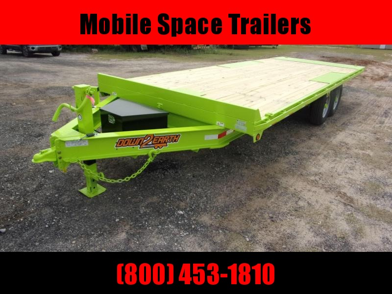Down 2 Earth Trailers 8x22 Lime Green tilt 14k Equipment Trailer