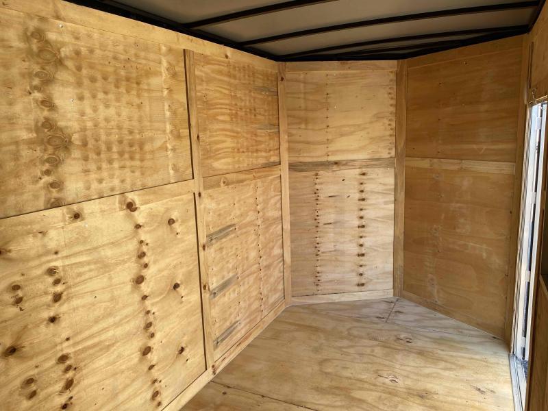 6x12 7' 3x6 Window Blue Enclosed Cargo Concesion