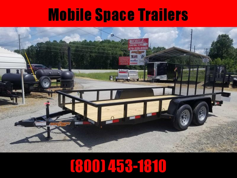 Down 2 Earth Trailers 76x16TA Utility Trailer Tube Rails