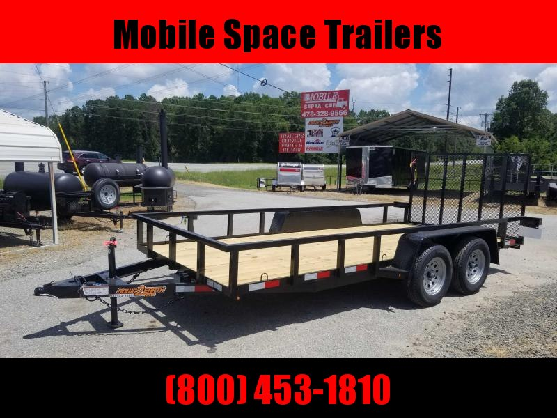 Down 2 Earth Trailers 76x16TA Utility Trailer Tube Rails