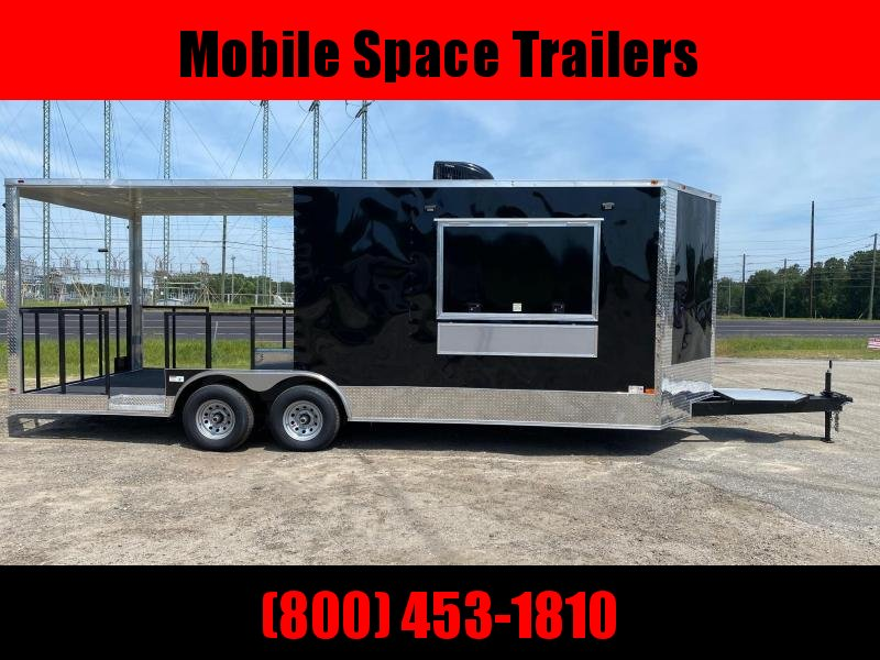Empire 8.5x22 Concession 16' box 6' Porch Vending / cargo Trailer