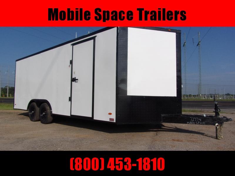 Liberty 8.5X20 White 10K Blackout Semi-Screwless Carhauler Enclosed Cargo Trailer