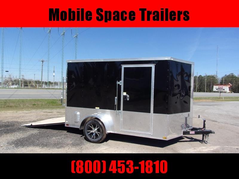 7x10 MCP ramp door Black Enclosed Cargo Trailer