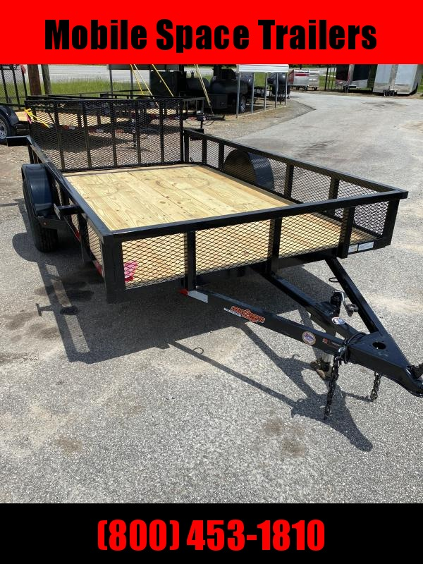 Down 2 Earth Trailers 76x12ut Utility Trailer with dove tail