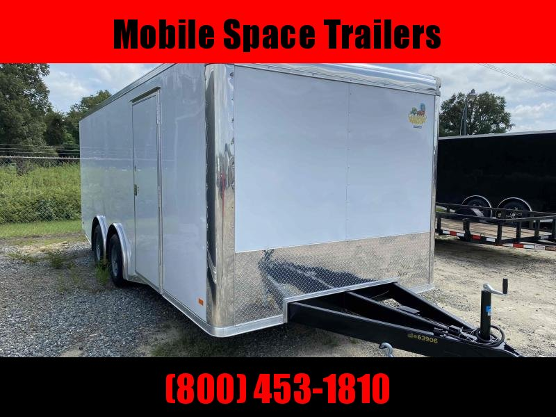 2020 Covered Wagon Trailer 8.5X20 White Spread Axle Car Hauler