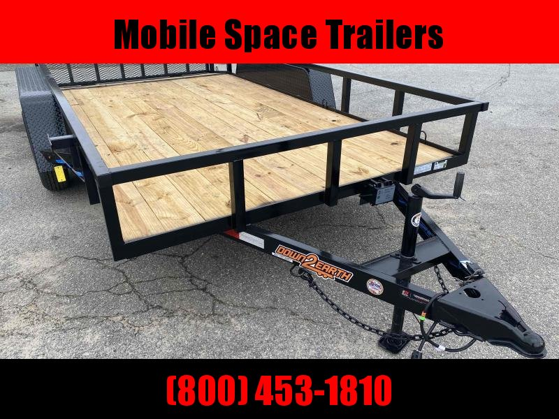 Down 2 Earth Trailers 82X14 Tandem Axle Utility Trailer
