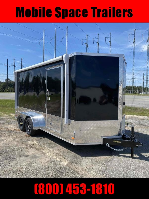 Covered Wagon Trailers 7x16 Finished AC Elec PKG ramp door Enclosed Cargo Trailer