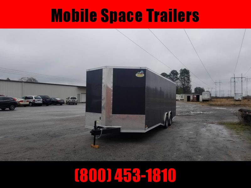 Covered Wagon Trailers 8.5x24  bkSpread axles ramp door Enclosed Cargo