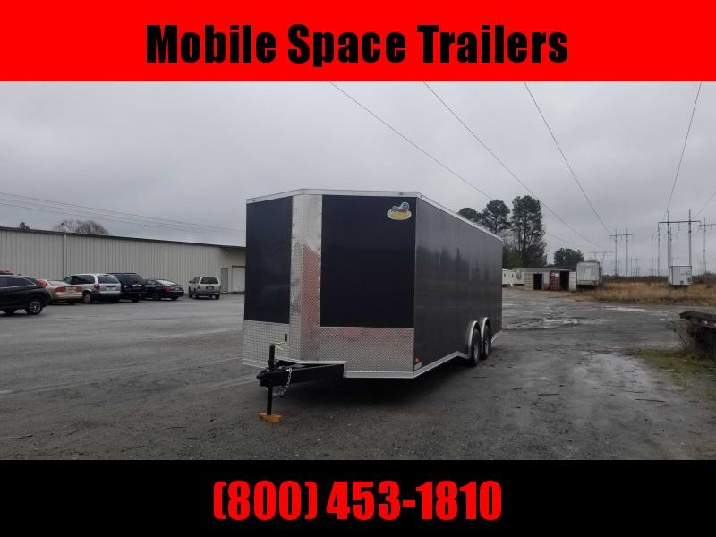 Covered Wagon Trailers 8.5x24  bkSpread axles ramp door Enclosed Cargo