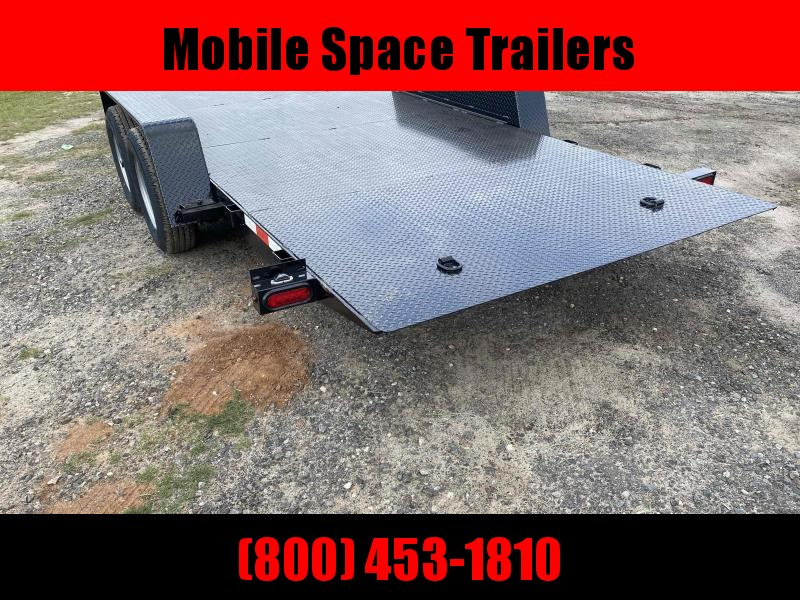 82x20 10k Power Tilt Steel Deck Equipment Trailer