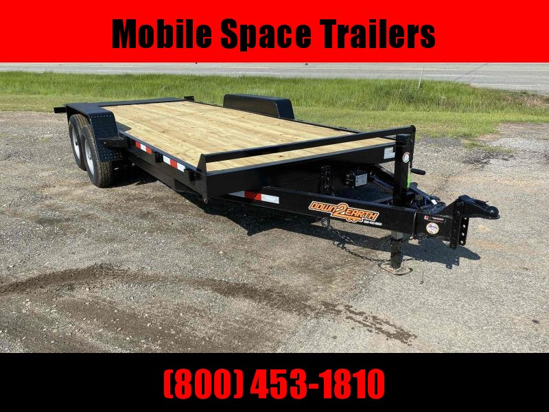 2020 Down 2 Earth Trailers 82x20 10k Gravity Tilt Wood Deck Equipment Trailer