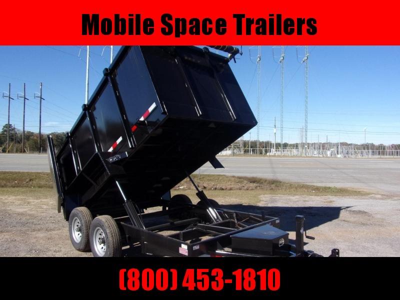 Down 2 Earth Trailers 6x12 48 high side 10k Dump Trailer