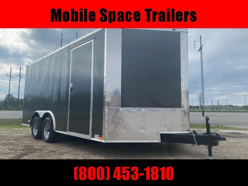 "1st Place Cargo 8.5x16 6'6"" Interior ramp door charcoal Enclosed Cargo Trailer"