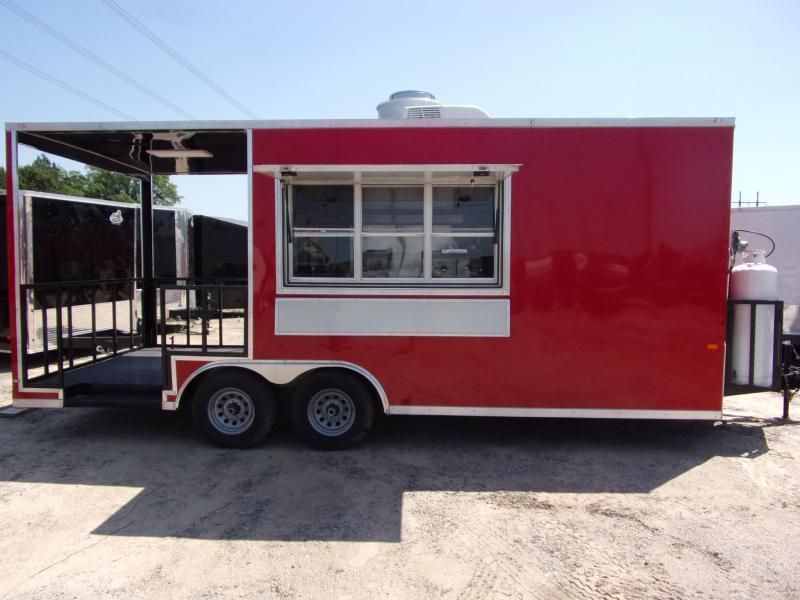 2020 Covered Wagon Trailers 8.5x20 Concession W/ 7' Porch Vending / Concession Trailer