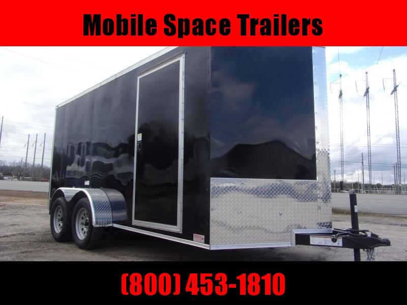 Trailer 7x14 7'Interior Black W/ Ramp Door Enclosed Cargo screwlessTrailer