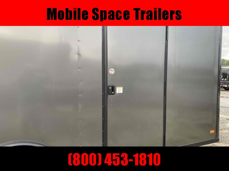 2020 Covered Wagon Trailer 8.5X20 Charcoal Blackout Spread Axle Car Hauler