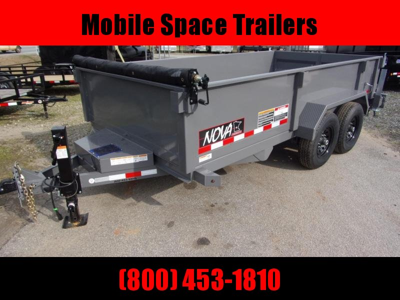 2020 Midsota 82X14 15k gvwr NOVA Dump Trailer With ramps