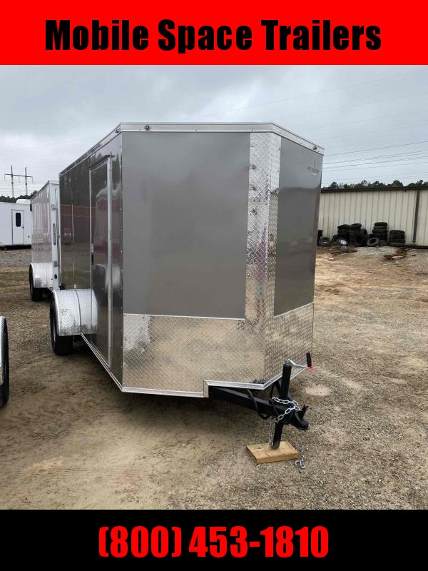 2020 NationCraft Trailers 6x12 Ramp door Pewter Enclosed Cargo Trailer