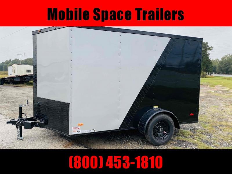 2 bike motorcycle 7x10 Blackout ramp door Enclosed Cargo Trailer