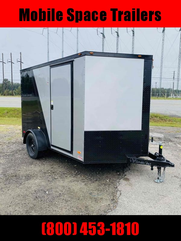2 bike motorcycle 7x10 Blackout ramp door Enclosed Cargo Trailer